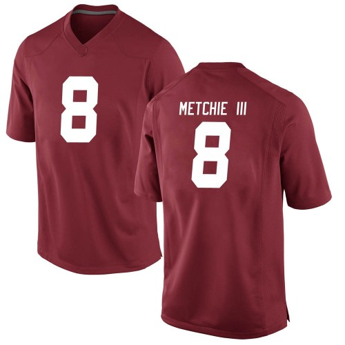 Youth Nike John Metchie Alabama Crimson Tide Game Crimson Football College Jersey