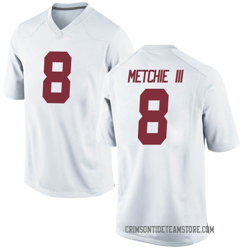 Youth Nike John Metchie III Alabama Crimson Tide Replica White Football College Jersey