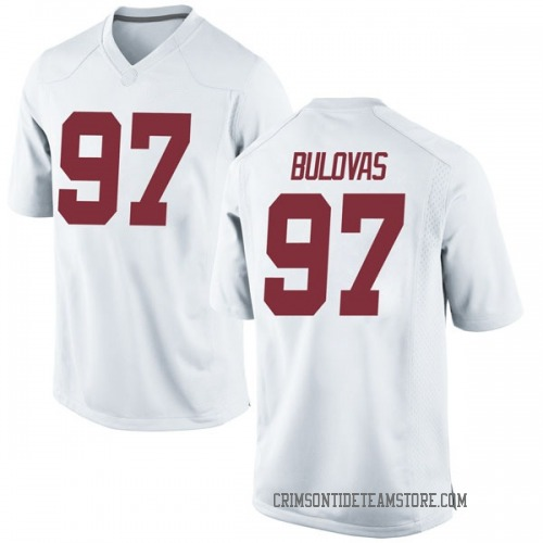 Youth Nike Joseph Bulovas Alabama Crimson Tide Game White Football College Jersey