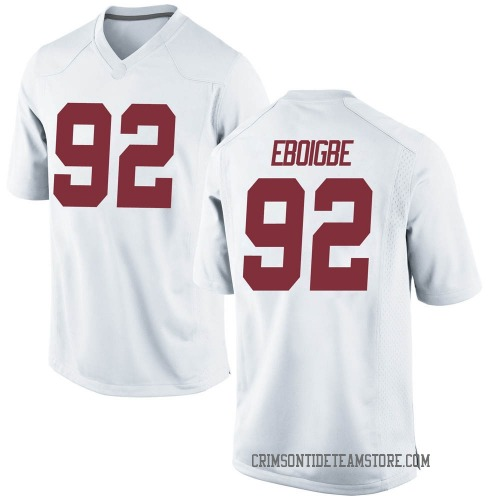 Youth Nike Justin Eboigbe Alabama Crimson Tide Game White Football College Jersey