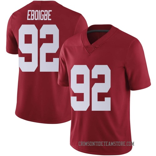 Youth Nike Justin Eboigbe Alabama Crimson Tide Limited Crimson Football College Jersey
