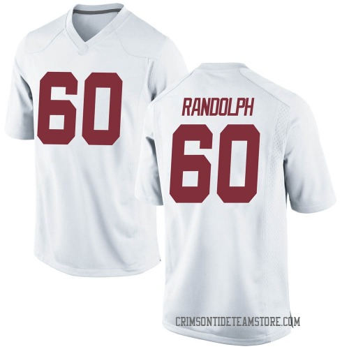 Youth Nike Kendall Randolph Alabama Crimson Tide Game White Football College Jersey