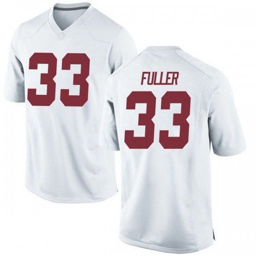 Youth Nike Landon Fuller Alabama Crimson Tide Replica White Football College Jersey
