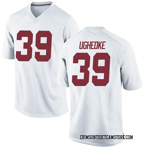 Youth Nike Loren Ugheoke Alabama Crimson Tide Replica White Football College Jersey