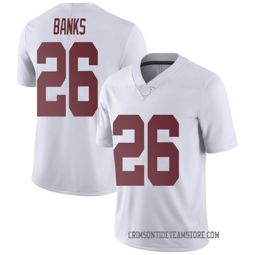 Youth Nike Marcus Banks Alabama Crimson Tide Limited White Football College Jersey