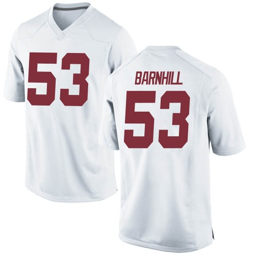 Youth Nike Matthew Barnhill Alabama Crimson Tide Game White Football College Jersey