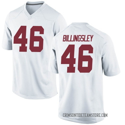 Youth Nike Melvin Billingsley Alabama Crimson Tide Game White Football College Jersey