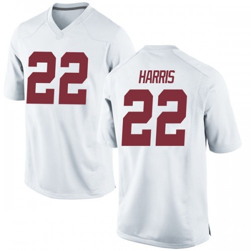 Youth Nike Najee Harris Alabama Crimson Tide Game White Football College Jersey