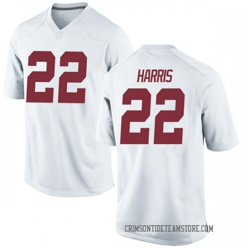 Youth Nike Najee Harris Alabama Crimson Tide Replica White Football College Jersey