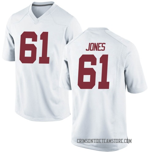Youth Nike Nathan Jones Alabama Crimson Tide Game White Football College Jersey
