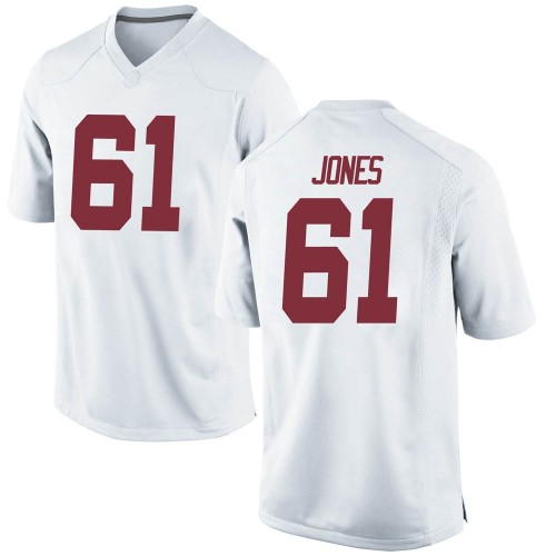 Youth Nike Nathan Jones Alabama Crimson Tide Replica White Football College Jersey