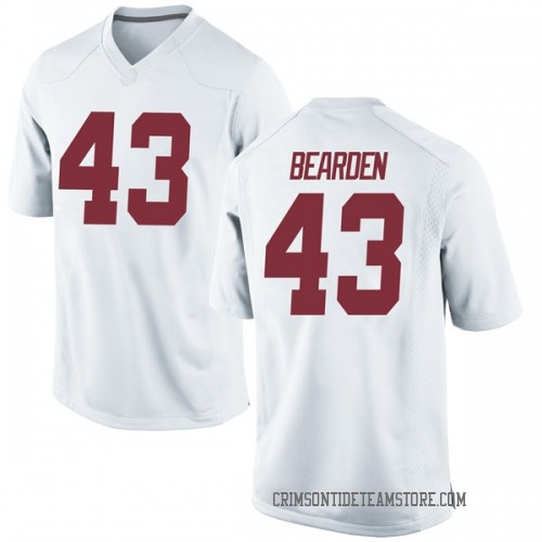 Youth Nike Parker Bearden Alabama Crimson Tide Game White Football College Jersey