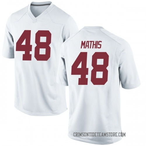 Youth Nike Phidarian Mathis Alabama Crimson Tide Game White Football College Jersey
