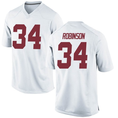 Youth Nike Quandarrius Robinson Alabama Crimson Tide Game White Football College Jersey