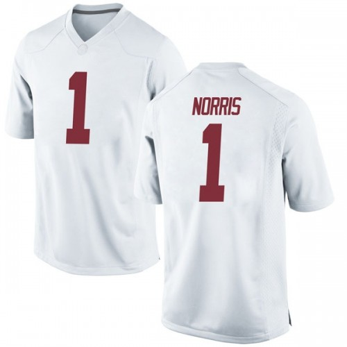 Youth Nike Riley Norris Alabama Crimson Tide Replica White Football College Jersey