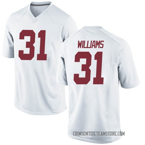 Youth Nike Shatarius Williams Alabama Crimson Tide Game White Football College Jersey