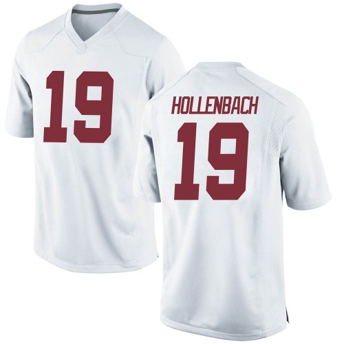 Youth Nike Stone Hollenbach Alabama Crimson Tide Replica White Football College Jersey