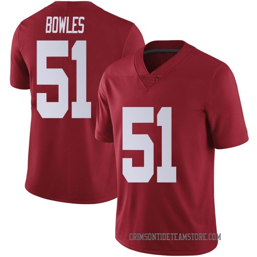 Youth Nike Tanner Bowles Alabama Crimson Tide Limited Crimson Football College Jersey