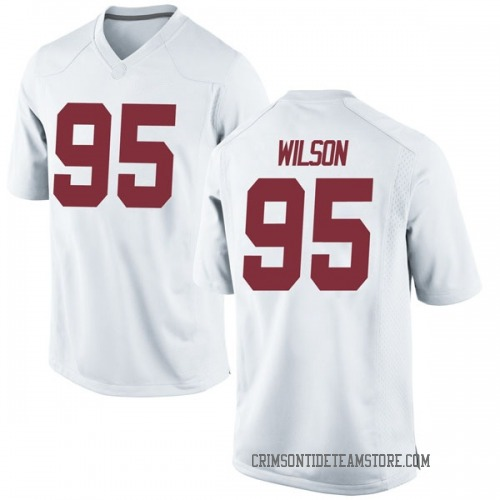 Youth Nike Taylor Wilson Alabama Crimson Tide Game White Football College Jersey