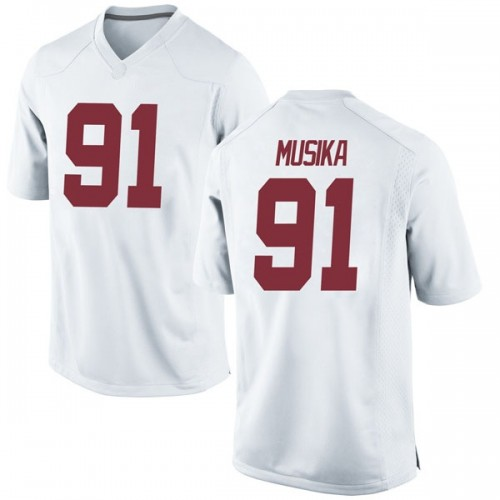 Youth Nike Tevita Musika Alabama Crimson Tide Game White Football College Jersey
