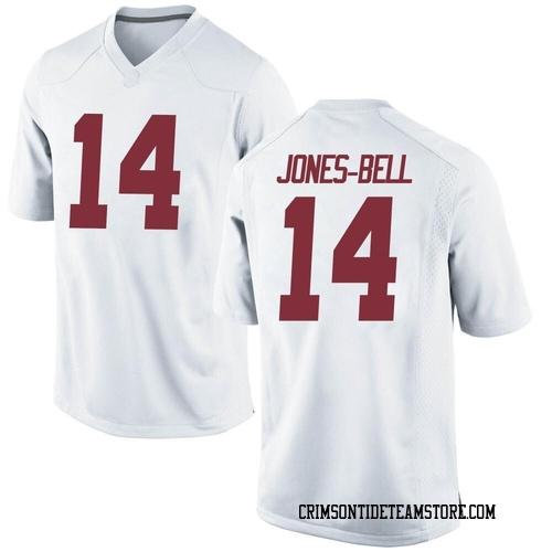 Youth Nike Thaiu Jones-Bell Alabama Crimson Tide Game White Football College Jersey