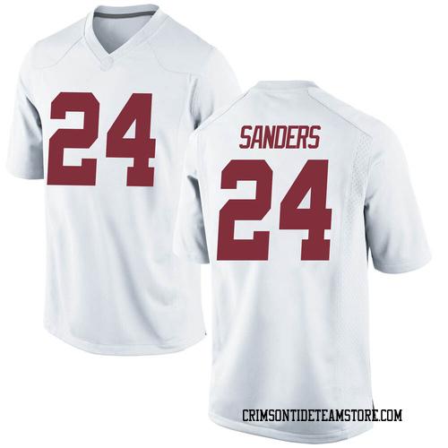 Youth Nike Trey Sanders Alabama Crimson Tide Replica White Football College Jersey
