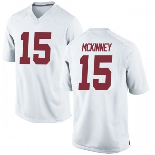 Youth Nike Xavier McKinney Alabama Crimson Tide Replica White Football College Jersey