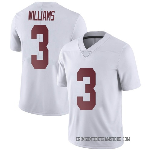 Youth Nike Xavier Williams Alabama Crimson Tide Limited White Football College Jersey