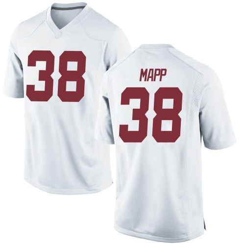 Youth Nike Zavier Mapp Alabama Crimson Tide Game White Football College Jersey
