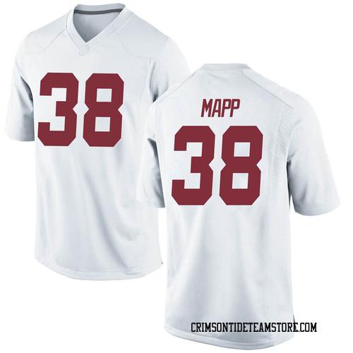 Youth Nike Zavier Mapp Alabama Crimson Tide Replica White Football College Jersey