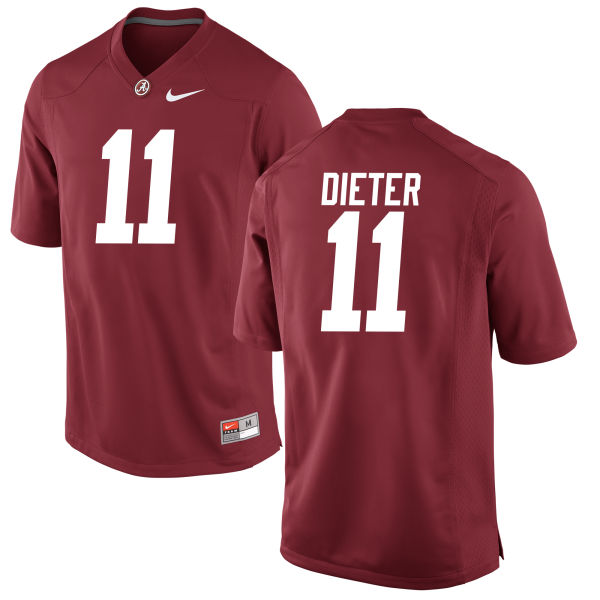 Youth Gehrig Dieter Alabama Crimson Tide Authentic Crimson Jersey