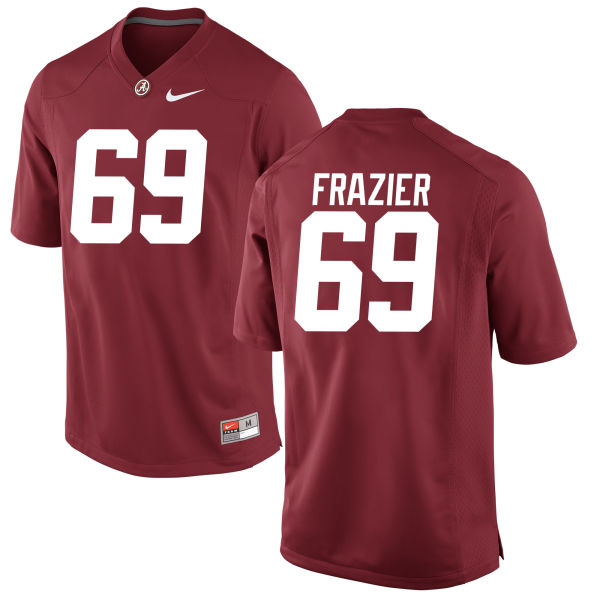 Men's Joshua Frazier Alabama Crimson Tide Game Crimson Jersey
