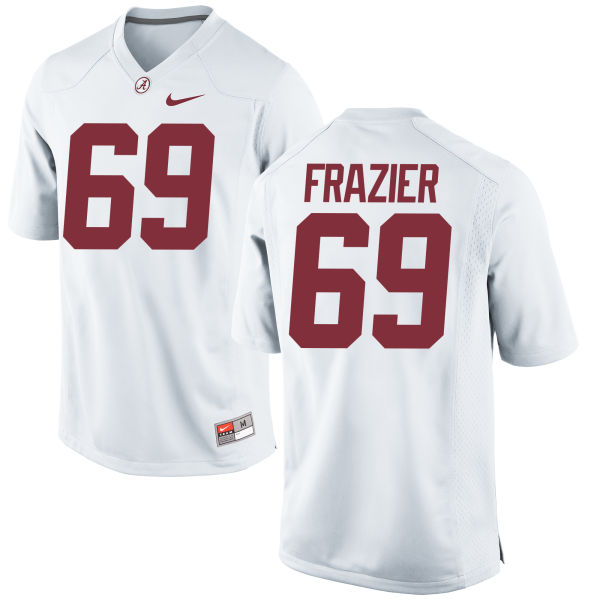 Men's Nike Joshua Frazier Alabama Crimson Tide Game White Jersey