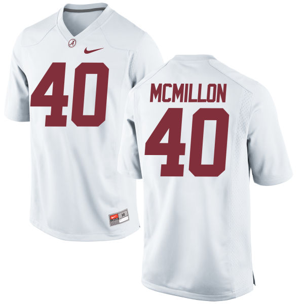 Men's Nike Joshua McMillon Alabama Crimson Tide Replica White Jersey