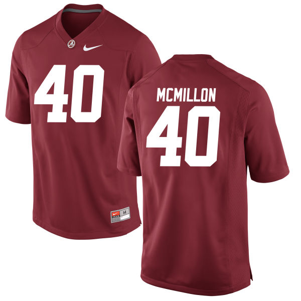 Men's Joshua McMillon Alabama Crimson Tide Game Crimson Jersey