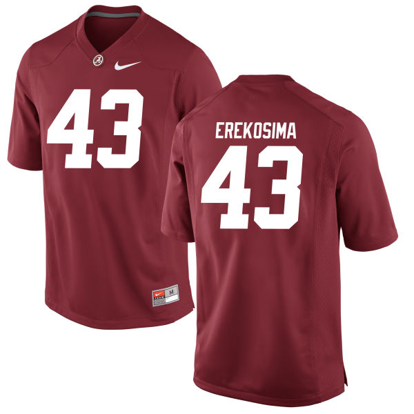Youth Lawrence Erekosima Alabama Crimson Tide Game Crimson Jersey