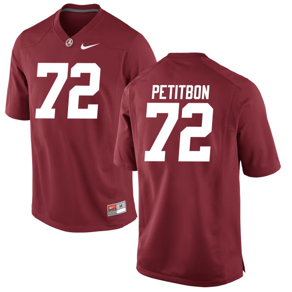 Men's Richie Petitbon Alabama Crimson Tide Authentic Crimson Jersey