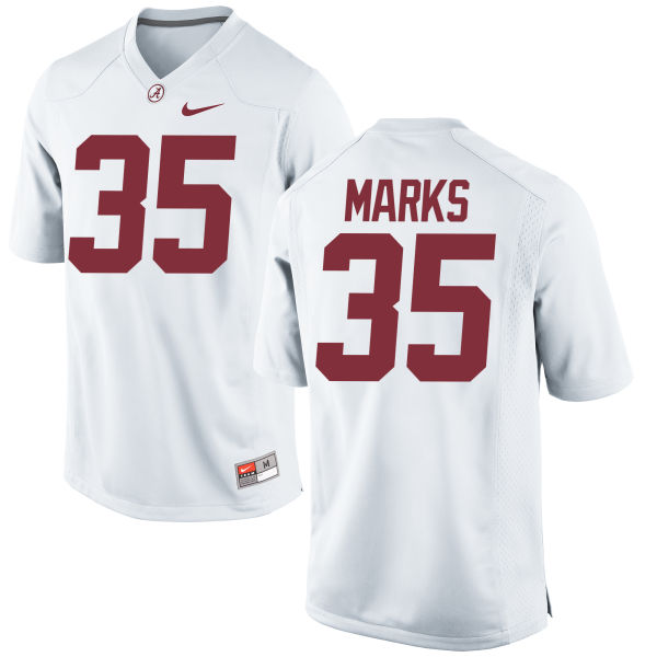 Men's Nike Torin Marks Alabama Crimson Tide Authentic White Jersey